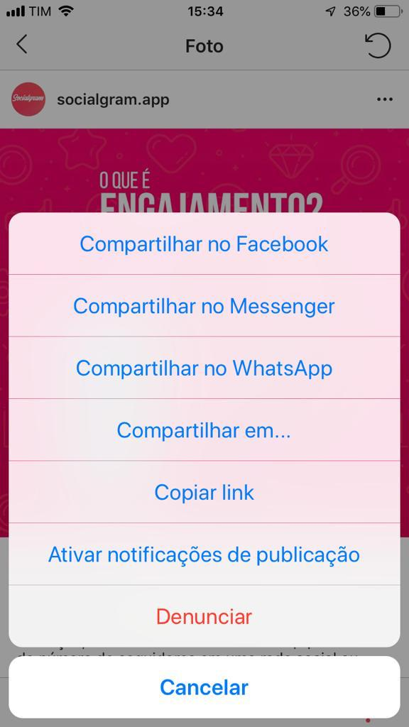 Como copiar texto do Instagram 01